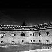 Fort Jefferson Walls With Garden Key Lighthouse Bastion And Moat Dry Tortugas National Park Florida  Poster by Joe Fox