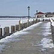 Frozen Northport Dock Poster