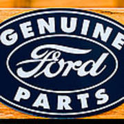 Genuine Ford Parts Sign Poster
