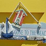 Gone To The Beach Poster