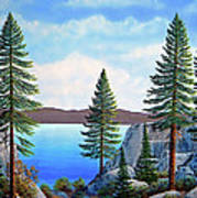 Granite Boulders Lake Tahoe Poster