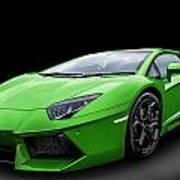 Green Aventador Poster