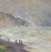 Heavy Sea At Pourville Poster