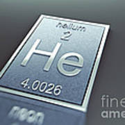 Helium Chemical Element Poster