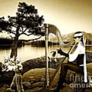 High Fashion Harp Poster