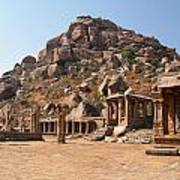 Hindu Ruins At Hampi Poster