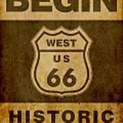 Historical Route 66 Sign Poster Poster