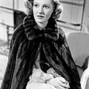 History Is Made At Night, Jean Arthur Poster