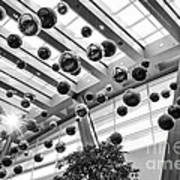 Holiday Glass Ornament Decorations At The Aria Resort And Casino Poster