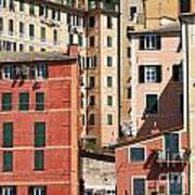 homes in Camogli Poster