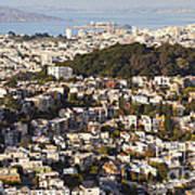 Homes Of San Francisco Poster