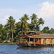 Houseboats On The Kerala Backwaters Poster