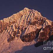 Mt Huandoy Sunrise Peru Poster