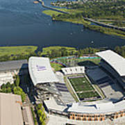 Husky Stadium At The University Poster