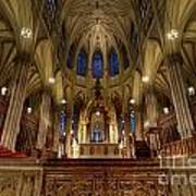 Inside St Patricks Cathedral New York City Poster by Amy Cicconi