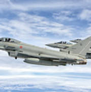 Italian Air Force F-2000 Typhoon Poster