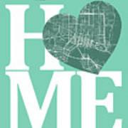 Jacksonville Street Map Home Heart - Jacksonville Florida Road M Poster