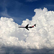 Jetliner And Clouds Poster
