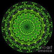 Kaleidoscope Of Glowing Circuit Board Poster