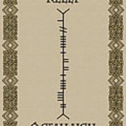 Kelly Written In Ogham Poster
