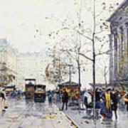 La Madeleine Paris Poster by Eugene Galien-Laloue