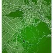 La Paz  Street Map - La Paz Bolivia Road Map Art On Colored Back Poster