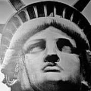 Lady Liberty In Black And White Poster