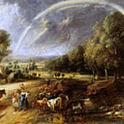 Landscape With A Rainbow Poster