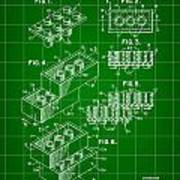 Lego Patent 1958 - Green Poster