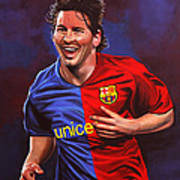 Lionel Messi  Poster by Paul Meijering