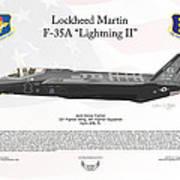 Lockheed Martin F-35a Lightning II Joint Strike Fighter Poster