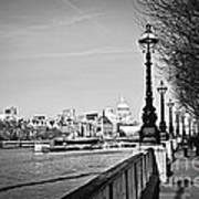London View From South Bank Poster