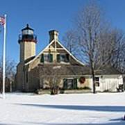 Mcgulpin Point Lighthouse In Winter Poster