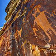 Mckee Springs Petroglyph - Utah Poster