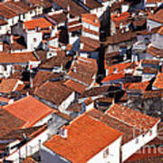 Medieval Town Rooftops Poster