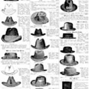Men's Hats, 1895 Poster