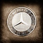 Mercedes-benz 6.3 Amg Gullwing Emblem Poster