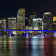 Miami Downtown Skyline Poster