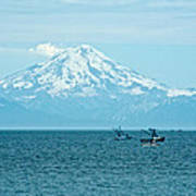 Mount Redoubt Across Cook Inlet From Ninilchik-ak   Poster