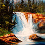 Mountain Falls Poster by Robert Carver