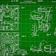 Mouse Trap Board Game Patent 1962 - Green Poster