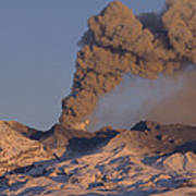 Mt Ruapehu 1996 Eruption New Zealand Poster