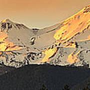 Mt. Shasta Sunset Panorama Poster