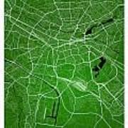 Nuremberg Street Map - Nuremberg Germany Road Map Art On Colored Poster