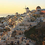 Oia At Sunset Santorini Cyclades Greece  Poster