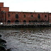 Old Brooklyn Pier Warehouse Poster