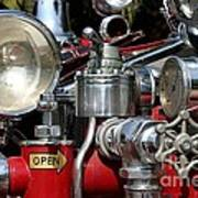 Old Fire Truck Poster