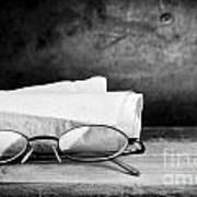 Old Glasses On Desk Poster