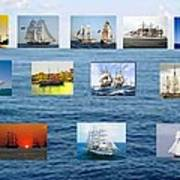 Old Tall Ships Poster