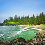 Pacific Ocean Coast On Vancouver Island Poster